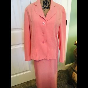 Nikki Skirt And Jacket Size 12 peach color